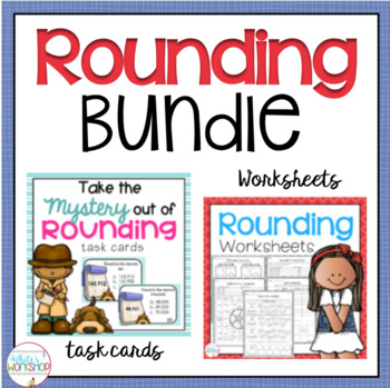 Rounding Task Cards and Worksheets for Fourth Grade