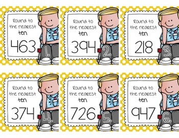 Rounding Whole Numbers and Decimal Task Cards