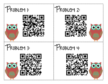 Rounding Task Cards with QR Codes