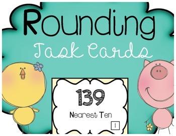 Rounding Task Cards Tens Hundreds Thousands