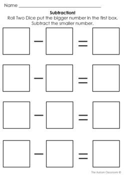 basic math skills template worksheets by yooper duper  tpt