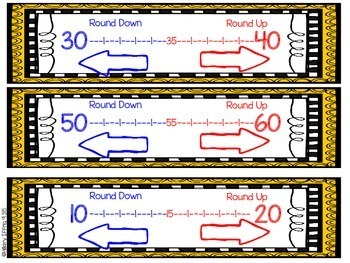 Rounding Tens Using a Number Line (Game)