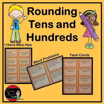Rounding Tens and Hundreds:  Third Grade