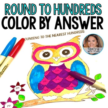 Rounding To Hundreds Color By Answer