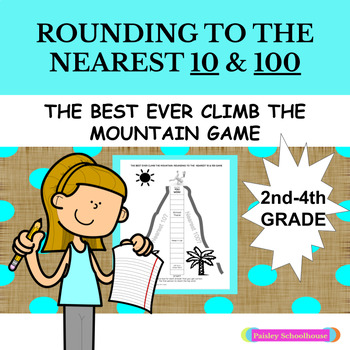 Rounding To The Nearest 10 & 100 GAME: The Best Ever Climb The Mountain Game