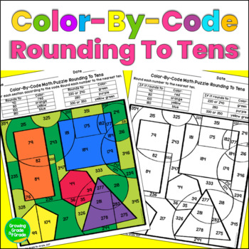 Rounding To The Nearest 10 Color By Code Math Puzzle