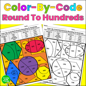 Rounding Whole Numbers Color By Code Math Puzzle