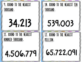 Rounding *Up To Millions* SCOOT! Game, Task Cards or Assessment