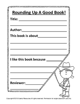 Rounding Up a Good Book Book Report