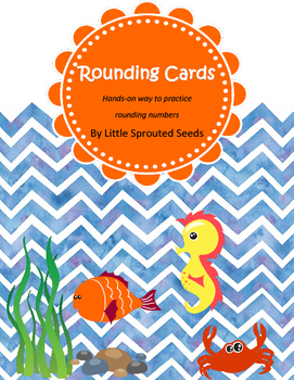 Rounding Up or Down Cards, Ocean themed