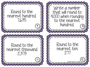 Rounding Up to Ten Thousands Scoot Game {Task Cards}