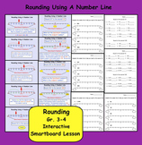 Rounding Using A Number Line  Interactive Smartboard Lesso