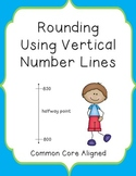 Rounding Using Vertical Number Lines