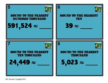 Rounding Whole Number Task Cards