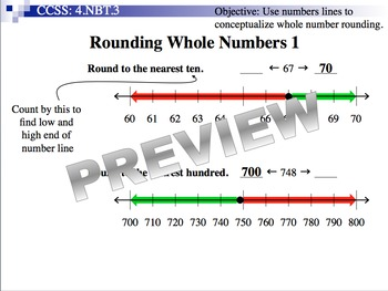 Rounding Whole Numbers (Part of Place Value & Number Sense Unit)