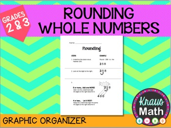 Rounding Whole Numbers: Guided Notes & Practice (3.4B & 3.NBT.1)