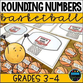 Rounding Whole Numbers Basketball Game and Sort
