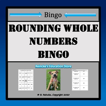 Rounding Whole Numbers Bingo (30 pre-made cards!)