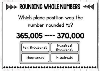 Rounding Whole Numbers Boom Cards Level 2