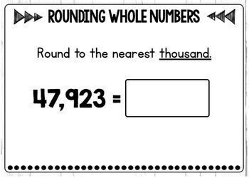 Rounding Whole Numbers Digital Boom Cards Level 2