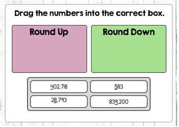 Rounding Whole Numbers Boom Cards Level 1