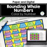 Rounding Whole Numbers Color by Number