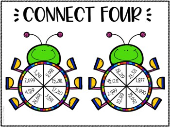 Rounding Whole Numbers Connect 4