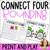 Rounding Whole Numbers Connect 4 Game