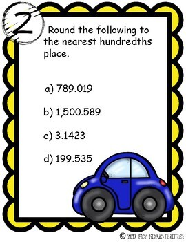 Rounding Whole Numbers & Decimals {Stations}
