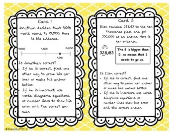 Rounding Whole Numbers Extension Cards