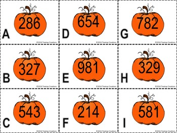 Rounding Whole Numbers to Nearest 10 or 100 Fall Theme
