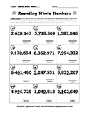 """Rounding Whole Numbers- """"Find Someone Who..."""" Kagan Activity"""