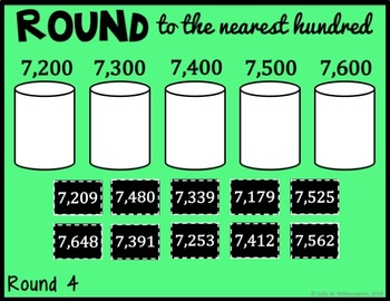DIGITAL Rounding Whole Numbers Game, Number Sort for Google Drive