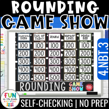 Rounding Whole Numbers Game Show PowerPoint Game | Test Prep Review Game