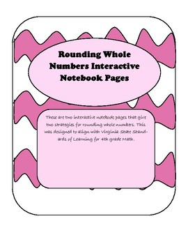 Rounding Whole Numbers Interactive Notebook Page