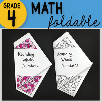 Math Doodle - Rounding Whole Numbers ~ INB Foldable Notes ~
