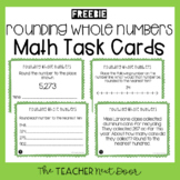 3rd Grade Freebie Rounding Whole Numbers Task Cards | Rounding Math Center
