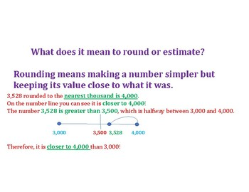 Rounding Whole Numbers PowerPoint