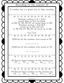 Rounding Whole Numbers Print & Go {CCSS 3.NBT.A.1 Printables}