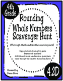 Rounding Whole Numbers Scavenger Hunt (TEKS 4.2D) STAAR Practice