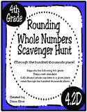 Rounding Whole Numbers Scavenger Hunt (TEKS 4.2D) STAAR Practice