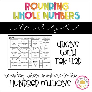 Rounding Whole Numbers TEK 4.2D