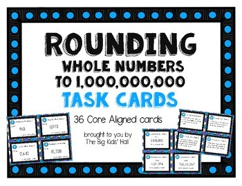 Rounding Whole Numbers Task Cards