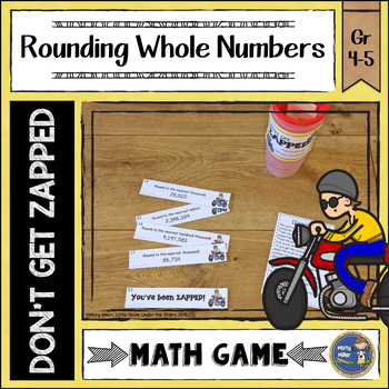 Rounding Whole Numbers Don't Get ZAPPED Math Game