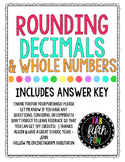 Rounding Whole Numbers and Decimals (Practice and Assessment Worksheets)