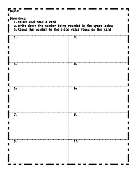 Rounding Whole Numbers and Decimals Task Cards (Thousandths through Millions)