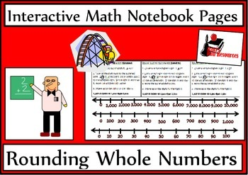 Rounding Whole Numbers for Interactive Math Notebooks