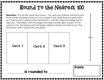 Rounding Worksheets and Game 3.NBT.A.1