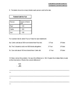 Rounding, addition, and subtraction practice or review