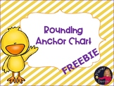 Rounding anchor chart poster with number line